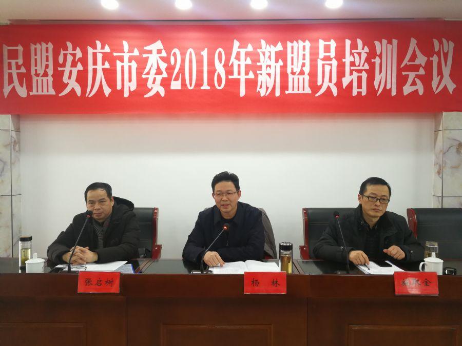 民盟安庆市委召开2018年新盟员培训会议