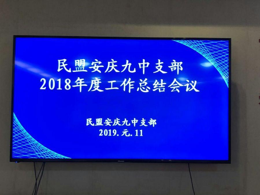 民盟安庆九中支部召开2018年度工作总结会议
