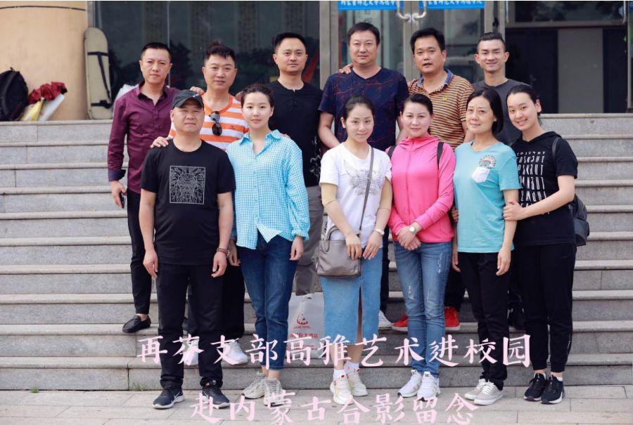 安庆民盟再芬黄梅支部积极参加高雅艺术进校园活动