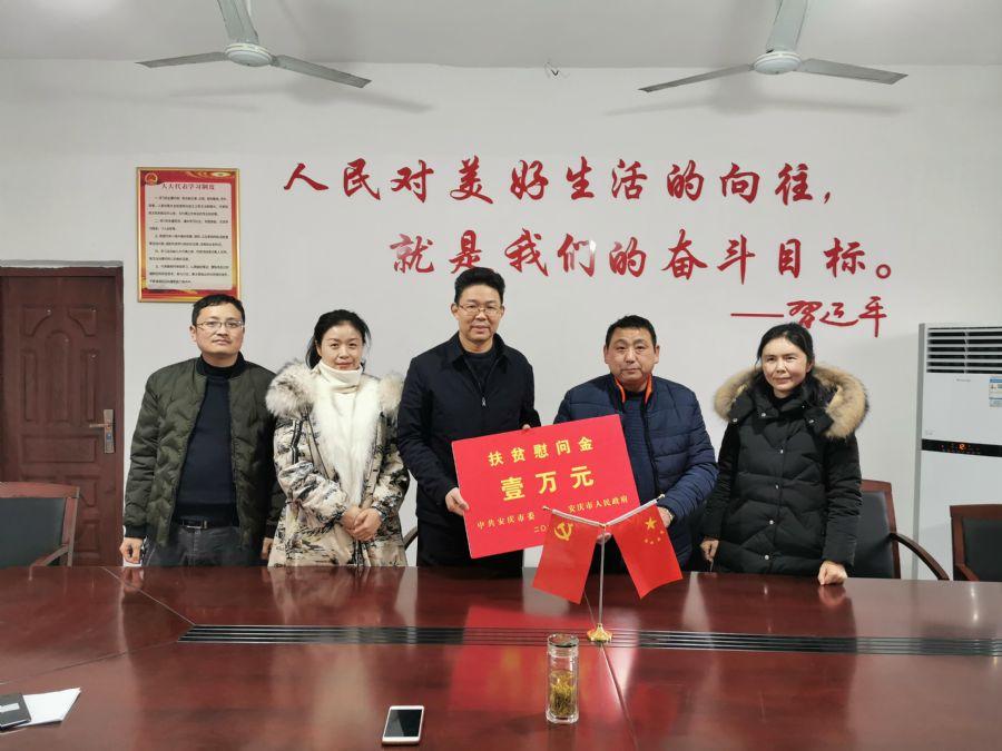 杨林赴望江县漳湖镇看望慰问驻村工作队和贫困群众