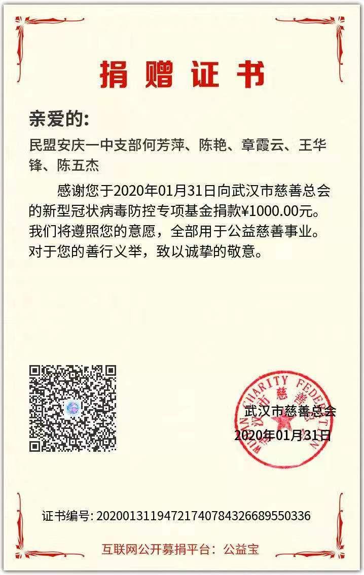 抗击疫情—安庆民盟在行动(盟员通过多种形式参与抗击疫情活动)