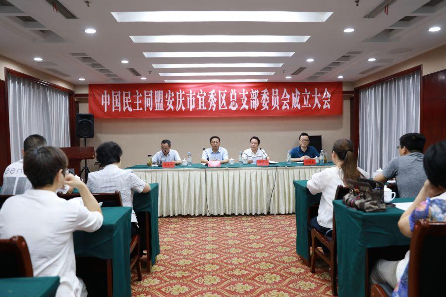 民盟安庆市宜秀区总支委员会成立大会顺利召开