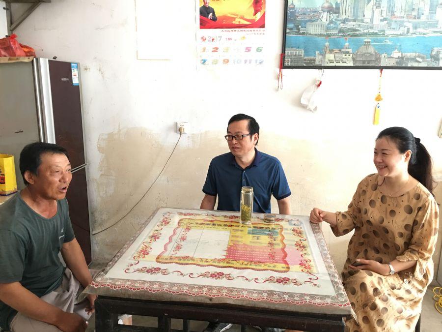 民盟安庆市委会赴大观区山口镇村开展文明创建工作