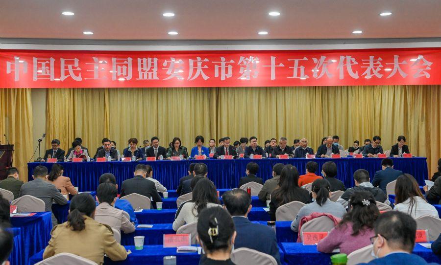中国民主同盟安庆市第十五次代表大会胜利召开